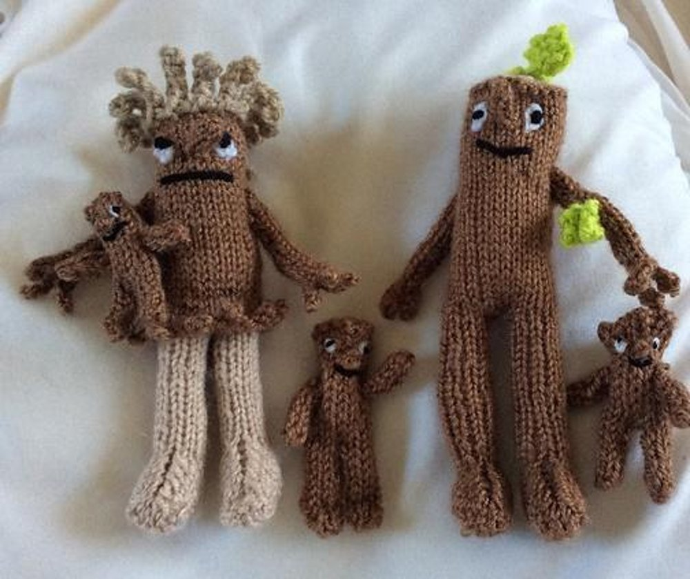 Stick Man Amp His Family Knitting Pattern By Hennie