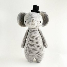 Elephant with Hat Crochet Amigurumi Pattern