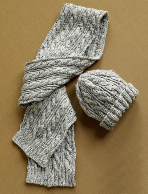 Baby Knitting Free Patterns : Herdwick Dell Hat and Scarf in Lion Brand Vannas Choice - 90275AD Knit...