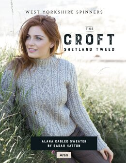 Alana Cabled sweater in West Yorkshire Spinners The Croft Shetland Tweed - DBP0053 - Downloadable PDF