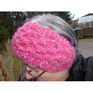 Celtic Cable Headband and Hand warmers