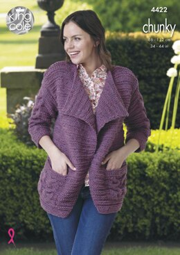 Jacket & Sweater in King Cole Chunky - 4422 - Downloadable PDF