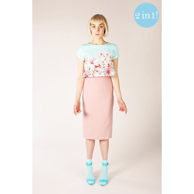 Named Clothing Inari Tee Dress & Crop Tee  - Downloadable PDF, Size 32-46