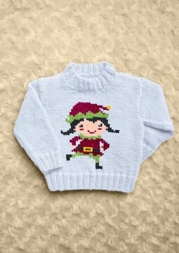 Intarsia - Girl Elf Chart - Childrens Sweater