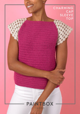 Charming Cap Sleeve Top - Free Crochet Pattern For Women in Paintbox Yarns Cotton DK