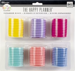 Me & My Big Ideas Happy Planner Expander (Big) Disc Value Pack 66/Pkg - Multi Colors