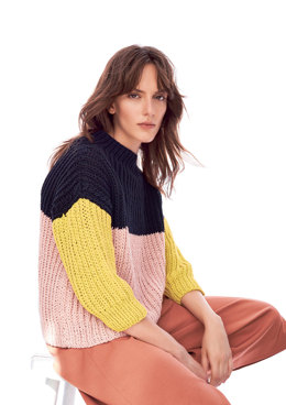 Sweater and Loop Scarf in Rico Fashion Jersey - 403 - Leaflet