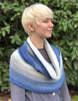 Big Garter Cowl in Plymouth Yarn Hot Cakes - F834 - Downloadable PDF