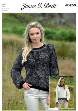 2d2a23747 Sweaters in James C. Brett Chunky with Merino and Faux Fur - JB250
