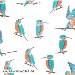 Craft Cotton Company Lily Pad - Kingfisher White
