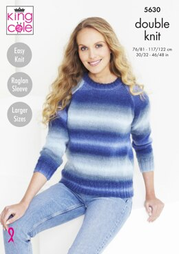 Sweater & Accessories in King Cole Riot DK - 5630 - Downloadable PDF