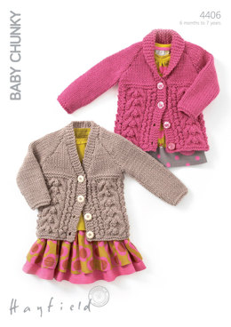 Cardigans in Hayfield Baby Chunky - 4406 - Downloadable PDF