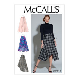 McCall's Misses' Skirts and Belt M7813 - Sewing Pattern