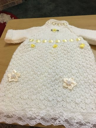 Baby Born Asleep Gown Knitting Project By Elaine E Loveknitting
