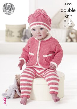 Baby Set in King Cole Cole DK - 4555 - Downloadable PDF