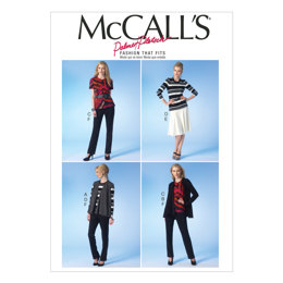 McCall's Misses' Vest, Jacket, Tops, Skirt and Pants M7059 - Sewing Pattern