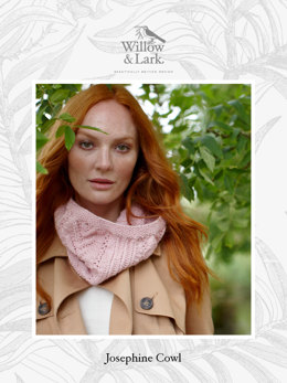 """Josephine Cowl"" - Cowl Knitting Pattern For Women in Willow & Lark Ramble-4"