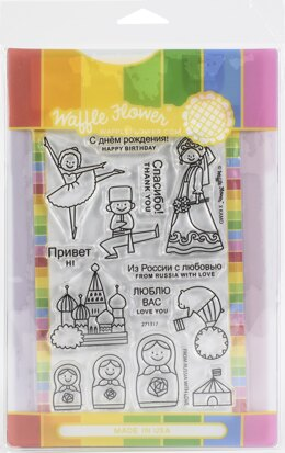 Waffle Flower Crafts Waffle Flower Stamp & Die Set - From Russia With Love