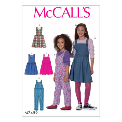 McCall's Children's/Girls' Jumpers and Overalls M7459 - Sewing Pattern