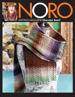 Chevron Scarf in Noro Kureopatora - 16 - Downloadable PDF