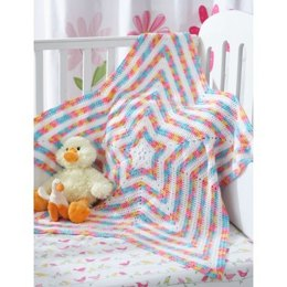 Star Blanket in Bernat Baby Coordinates Solids