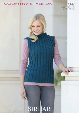 Sweater and Sleevless Top in Sirdar Country Style DK - 7347