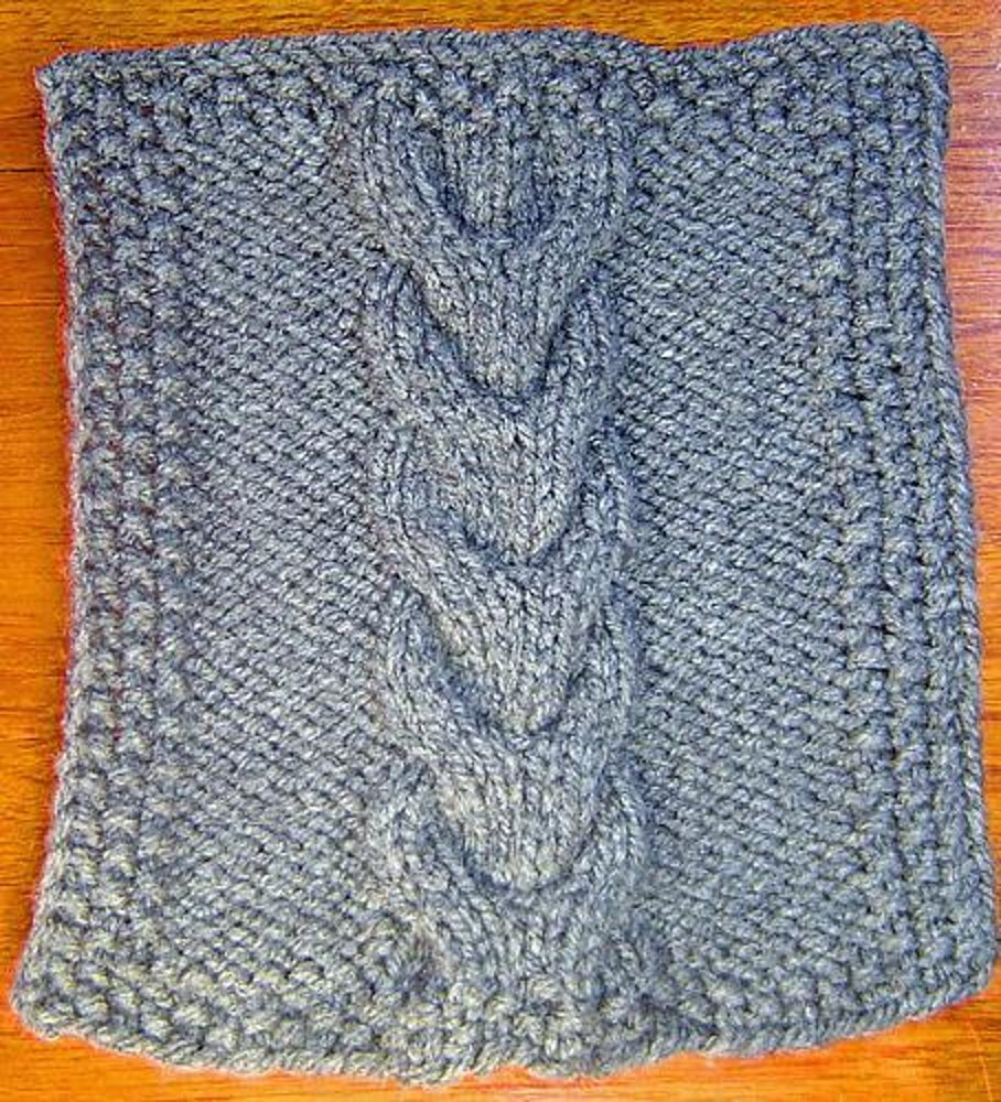 Horseshoe Cable Square Knitting Pattern By Terry Morris