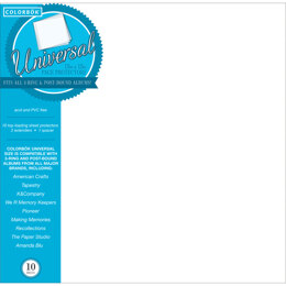 """American Crafts Colorbok Universal Refill Pages 12""""X12"""" 10/Pkg - 125814"""