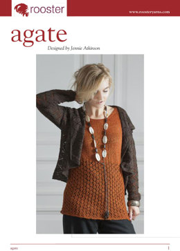 Agate Lace Jacket in Rooster Delightful Lace