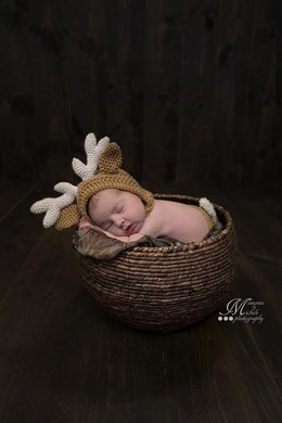 Newborn Reindeer or Deer Hat and Diaper Cover