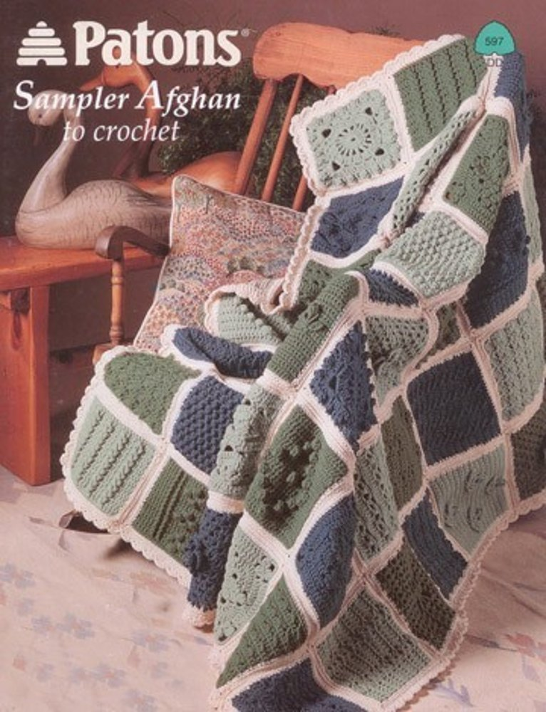 Sampler Afghan To Crochet In Patons Decor Knitting