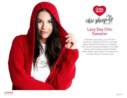 Lazy Day Chic Sweater in Red Heart Chic Sheep - LW5906 - Downloadable PDF