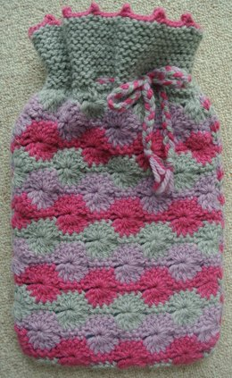 Circles Hot Water Bottle Cover