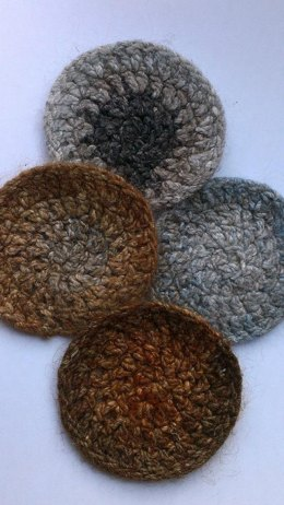 Felted Noro Coasters