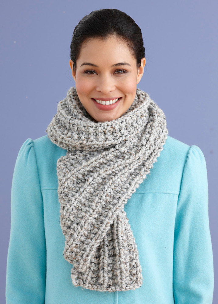 Wool Ease Thick And Quick Knitting Patterns : Brisbane Scarf in Lion Brand Wool-Ease Thick & Quick - 90619J Knitting ...