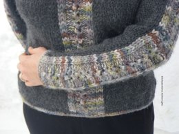 Northern Lights Sweater in Misti Alpaca Hand Paint Chunky