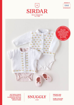 Babies Cardigans in Sirdar Snuggly 4 Ply  - 5363 - Leaflet