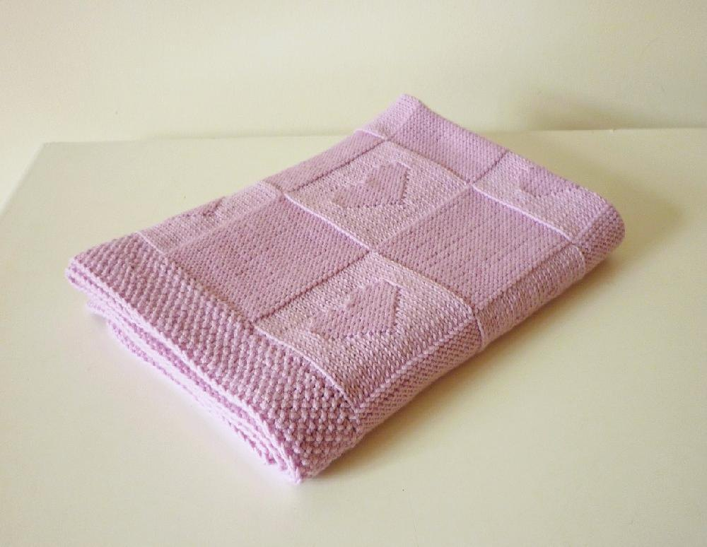 Baby Blanket Charlotte Knitting Pattern By Le Petit Mouton Knitting