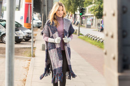 Poncho in Schachenmayr Mouline Art - S9612 - Downloadable PDF