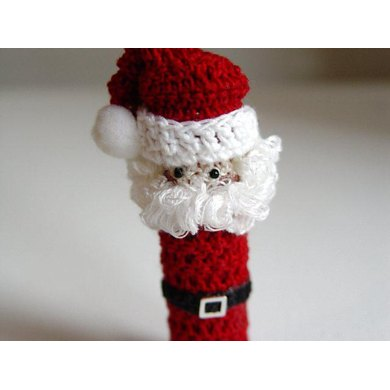Mr. Claus Doll Lip Balm Holder crochet Pattern