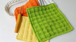 Loom Knitting Pattern Waffle Stitch Washcloth