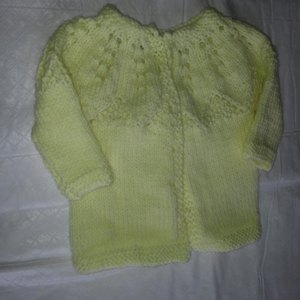 Star Bright Baby Cardigan And Hat In Red Heart Soft Baby