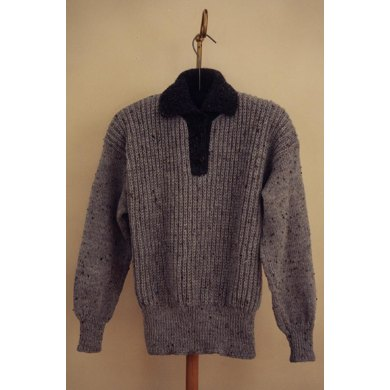 Placket Pullover Sweater