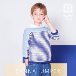 Sanna Jumper in MillaMia Naturally Soft Cotton - Downloadable PDF