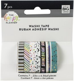 Me & My Big Ideas Happy Planner Skinny Washi Tape 7/Pkg - Everyday