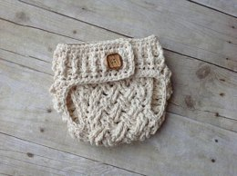 Diagonal Weave Diaper Cover