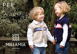 Per Bodywarmer in MillaMia Naturally Soft Merino - Downloadable PDF