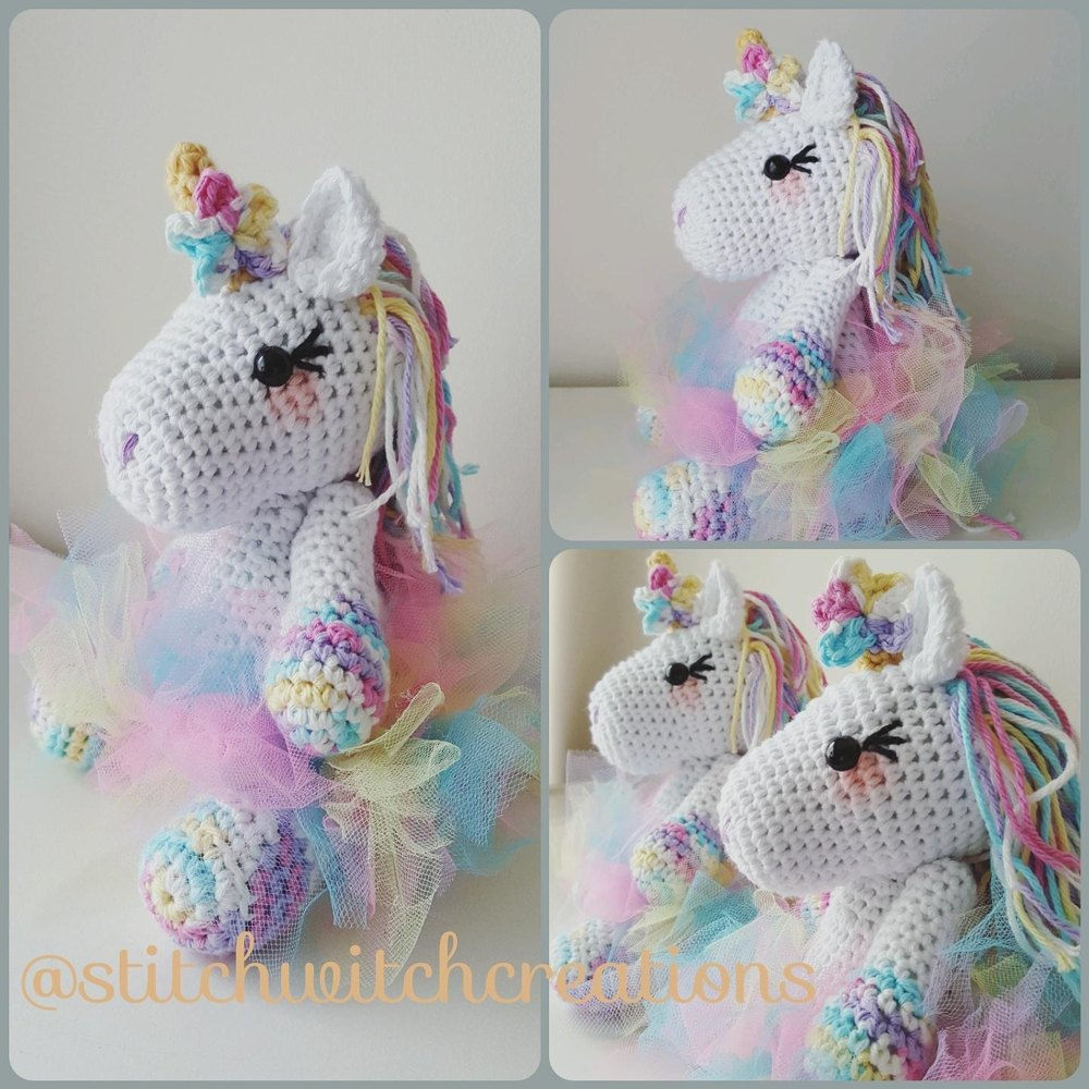 Small Lavender Unicorn Crochet Pattern By Stitchwitchcreations