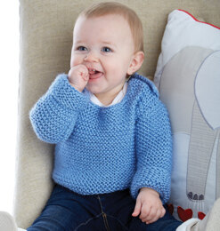 Simply Cute Pullover in Caron Simply Baby - Downloadable PDF