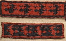Witch double knitting bookmark